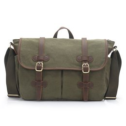 Wholesale Fashionable Computer Bags - Fashionable canvas computer bag, European and American leisure shoulder bag, men's handbag