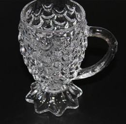 Wholesale Tea Fishing Cup - hot seller Creative lead-free glass tea glass with a glass fish tail scales with handle and a cup of coffee