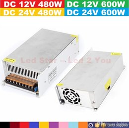 Wholesale 12v 25a - 600W 12V 50A   24V 25A Power Supply AC to DC 12V 40A   24V 20A 480W Transformer Switch Power Supply for Led Strip billboard