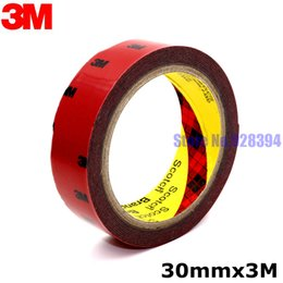 Wholesale Foam Tape Single Sided - Wholesale- 2016 30mm x 3Meter 3M Tape Automotive Auto Truck Car Acrylic Foam Double Sided Attachment Strong Adhesive Tape Free Shipping