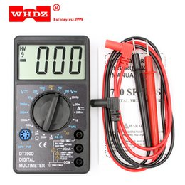 Wholesale Large Screen Multimeter - DHL 20PCS WHDZ DT700D Mini Digital Multimeter Large Screen Overload protection Buzzer Square Wave Output Ampere Voltage Ohm Tester Probe