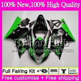 Wholesale Corona Motorcycles Gsxr - Body For SUZUKI GSXR 750 GSX R600 K4 Green corona GSXR 600 04 05 24HT0 GSX-R750 GSX-R600 GSXR750 04 05 GSXR600 2004 2005 Motorcycle Fairing