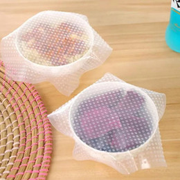Wholesale Heat Wrap Bags - 0.5mm thicken silicone plastic wrap Transparent pink Heat retention Preservation Vacuum Storage Bags Film For Food Packing
