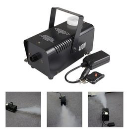 Wholesale Smoke Machine Lights - AUCD Mini 400W White Smoke Remote Control Smoke Fog Machine Stage Light Effect W400