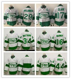 Wholesale Cheap Toronto Maple Leaf Jerseys - 2017 Newest Toronto Maple Leafs ST Pats 16 Mitch Marner 29 William Nylander 34 Auston Matthews 44 Rielly 17 Clark Hockey Jerseys Cheap