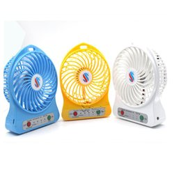 Wholesale Fan Flow - Portable Rechargeable Fan Desk Mini USB Fan with Switch 5V Super Mute Cooler High Air Flow Fan