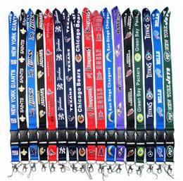 Wholesale Lanyard Football Team - 30pcs lot Football Teams Long Lanyard Neckstraps ID Card Badge Holder Detachable Lanyard Keychain For Xmas Gifts Hot Sales Free Shipping