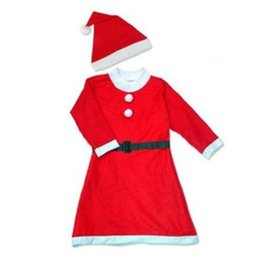 Wholesale Kids Suits Wholesale - Women's Santa Baby Costume Quesera Miss Santa Suit Adult Sweetie Christmas Halloween Party Costume Dress Free Size Fit for 150-175CM