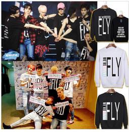 Wholesale Letter S K - KPOP Korean Fashion 2016 Got7 FLIGHT LOG Album WE'RE GONNA FLY IN SEOUL Cotton Hoodies K-pop Pullover Sweatshirts