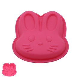 Wholesale Cake Mini Roll - Wholesale 20PCS Kawaii Rabbit Face Shaped Silicone Cake Mold for Roll Cake Mini Cake Fan Cupcake Decoration DIY Home Baking Tools