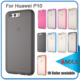 Wholesale Huawei Honor Soft Case - For Huawei Honor P10 Case 5.1 Inch Transparent Clear Soft TPU Gold for Samsung S8 S8 plus for iphone7