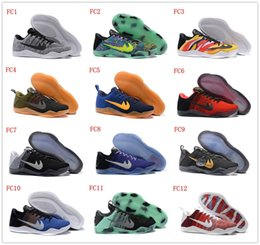 Wholesale Women Green Winter Boots - Kobe 11 XI Low Basketball Shoes Bryant Kobe 11 Elite Running Shoes KB XI Retro Weaving Sports Casual Sneakers Shoes Kobe Boots 43Colors