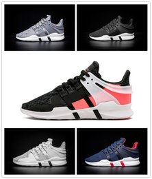 Wholesale Mens Casual Shoes Black Brown - High quality EQT Support ADV Boost Mens Running Shoes Black white blue GS Primeknit grey Core Sneakers Sports Shoe casual shoes eur 40-45