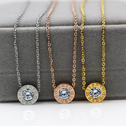 Wholesale Elegant Tops For Women - New Arrival Top Quality 316L Titanium steel Women Elegant Necklace Design Pendant with Diamond brand jewelery for women and girls PS4024