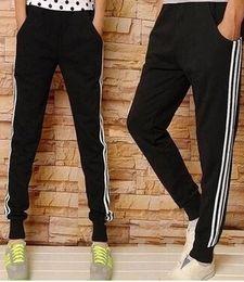 Wholesale Wholesale Hip Hop Dance Clothing - Wholesale-New Kanye west Hip Hop big and tall Fashion zippers jogers Pant Men Black Joggers dance urban Clothing Mens faux leather Pants