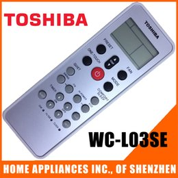 Wholesale Portable Air Conditioner Parts - Wholesale- (4 pieces lot)Replacement for TOSHIBA Split And Portable Air Conditioner Remote Control WC-L03SE Air conditioning parts