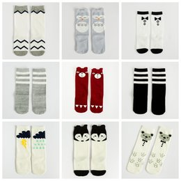 Wholesale Kids Dress Socking - 36 colors Cartoon Socks Knee High Socks for Kids and Babies Cute IG Style Animal Prints Cotton Stockings for Kindergarten Spirit Dressing up