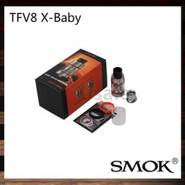 Wholesale Dual Hole Atomizer - Smok TFV8 X-Baby Tank 4ml Top Fill Swivel Design with Large Fill Hole Atomizer Large Dual Adjustable Airflow Slots 100% Original
