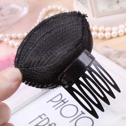 Wholesale Wholesale Hair Styling Devices - wholesale 10pcs Hair Ornaments Hairdressing Tool Princess Style Hair Heighten Device Bulkness Sponge Headband Hair Maker Pad