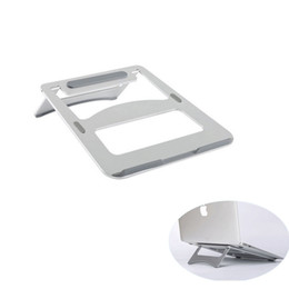 Wholesale Notebook Cooler Stand - High Quality Metal Aluminium Laptop Stand Portable Notebook Computer Stand Laptop Cooling Stand for Macbook Ipad