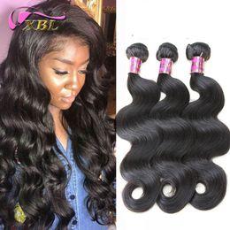 Wholesale Body Wave Peruvian Mix - XBL Body Wave Virgin Human Hair Extensions Brazilian 100 Human Hair Weave Peruvian Human Hair Bundles