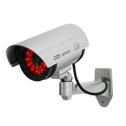 Wholesale Camaras Seguridad Cctv - Fake Camera AA Battery for 30pcs REAL LED Dummy Security Camera Bullet CCTV Camera Surveillance camaras de seguridad