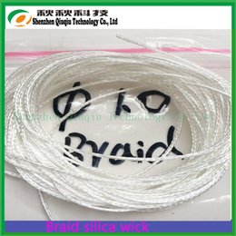 Wholesale Silica Glass Wick - Wholesale- Top quality ekowool wick braided silica wick  ilica more 96%,High quality e-cig braided glass fiber wick-2meter