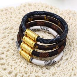 магниты для ювелирных изделий оптом Скидка Высокое качество титана стальной магнит кожаный браслет с пряжкой модные ювелирные изделия из телячьей кожи женщины браслет аксессуары оптом
