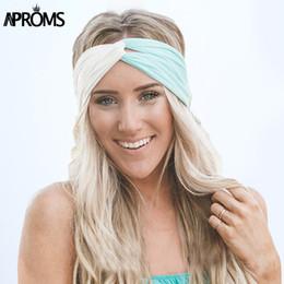 Wholesale Bandana Headband Girl - Aproms Twist Turban Headband for Women Hair Accessories Stretch Hairbands Girls Headwear Headbands Head Wrap Band Bandana