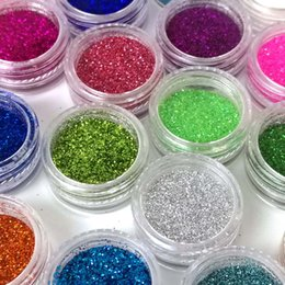 Wholesale Color Glitter Acrylic Powder Dust - Wholesale-24 Color Holographic Powder Nail Glitter Powder Dust Nailart Glitter Polish Acrylic Powder Glitter Nail Tinsel Nail Dust ZJ1317