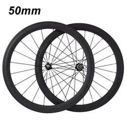 Wholesale Bicycle Carbon Clincher Rims - RG004-50mm 2017 new HOHANG genuine high-quality 700C bicycle wheel rim carbon fiber road car OEM decals EMS free shipping warranty 2 years