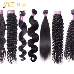 Wholesale Mongolian Loose Curly Bundle - JYZ Unprocessed Hair Weft 3pcs Wholesale Human Hair Extensions Body Wave Straight Loose Deep Natural Kinky Curly Virgin Hair Bundles Weaving