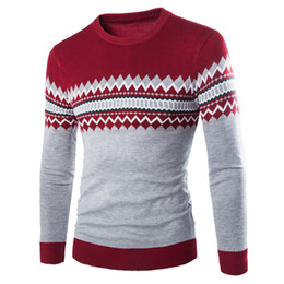 Wholesale Wholesale Wool Coat Man - Wholesale- Men Casual Round Neck Fashion Knit Sweater Pullover Knitwear Jumper Coat Tops