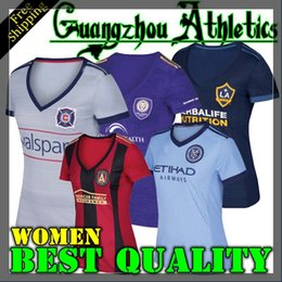 Wholesale 2017 Chicago Soccer jersey Atlanta United FC New York City FC Orlando City LA Galaxy Women Jerseys