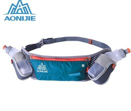 Wholesale Money Belts For Cycling - Wholesale-AONIJIE Outdoor Sport Waist Bag With + 2 pcs 250mML Bottle Waterproof Money Belt Pack Phone Pouch for Running Cycling Hiking