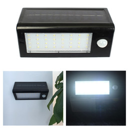 Wholesale Install Motion Sensor - Solar Powered Outdoor Motion Sensor Detector Wall Light 32LEDs Waterproof Can be Install in Stairway Path Garage Patio