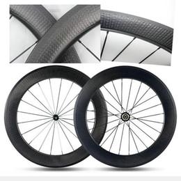 Wholesale Oem Road Bike Wheels - OEM logo carbon road bike wheels U shape 25mm width dimples bicycle wheels china carbon wheels basalt surface 45 50 58 80mm free shipping