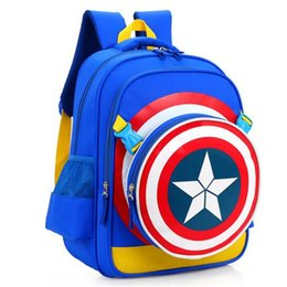 kids party books Coupons - Children Cartoon Avengers Captain America Backpack for Girls Boys Student School Book Bags Kids Birthday Party Gift