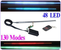 Alto brilho 130 Modos de Digitalização 7 Cores Cavaleiro Cavaleiro Luzes de Iluminação Bar 5050 SMD 48 LED 12 V com Controle Remoto de