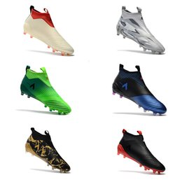 Wholesale Soft Elastic - 2017 Cheap Drop Free Shipping ACE 17+ Purecontrol FG NEW Men's Soccer Shoe boots Mens ace 17 soccer cleats football shoes online