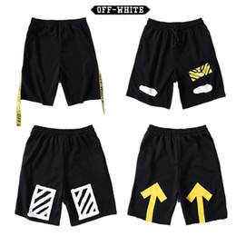 Wholesale Hiphop Sweatpants - 2017 Off White Men Short Pants Brand Clothing Offwhite Shorts HipHop Streetwear Men Women Casual Shorts Off White Men Sweatpants