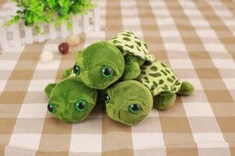 Wholesale Stuffed Turtles Big Eyes - 2017NEW10pcs lot 7'' 20CM cute little turtle cute stuffed animals with big eyes ty dolls Tortoise children gift pendant giveway gifts
