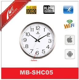 Wholesale H Camera - Wifi H.264 720P Wireless Security Wall Clock Camera