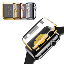 Wholesale Metal Case Watches - Ultra-thin Metal Plated Watch Case For Apple Watch Series 1 Series 2 38 42mm Cover Protective Shell Screen Protector Case with Package