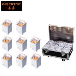 Wholesale Infrared Wholesale Prices - Discount Price Charging Flight Case 8in1+8XLOT Infrared 4x6W 6in1 Wireless Battery Led Par Light DMX6 10 Channels No Work Noise TP-B05
