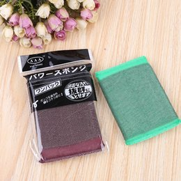 Wholesale Oil Washing Towel - sponge kitchen wash cloth sponge scouring the kitchen clean non-stick oil brush bowl towel