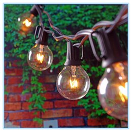 Wholesale White Bulb Outdoor String Lights - 25Ft Globe String Lights with 25 G40 Bulbs- Vintage Patio Garden Light string for Deco,Outdoor lights string for Christmas Party