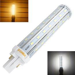 Atacado-Bombillas LED G24 2-Pin base de milho lâmpada 110V 220V 13W G24 PLC lâmpada Horizontal Plug Light com 30W CFL substituição de