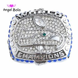 Wholesale Crystal Football Charms - 2017 Wedding Brand Fashion Zircon Crystal Silver Plated Women Men Rings Charm World Football Jewelry Party Champion Ring Fan's Gift