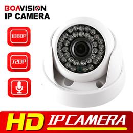 Wholesale Ir Dome Camera Audio - BOAVISION 720P 1080P IP Dome Camera Audio WIFI Optional IR 20M Night Vision 3.6mm Lens 1.0MP 2MP Security CCTV Camera P2P
